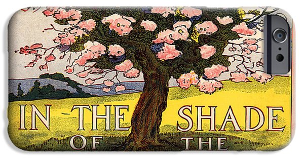 Sheets Drawings iPhone Cases - In the Shade of the Old Apple Tree iPhone Case by Pierpont Bay Archives