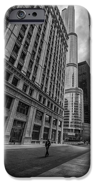 Wrigley iPhone Cases - Wrigley Building and Trump Tower iPhone Case by Mike Burgquist