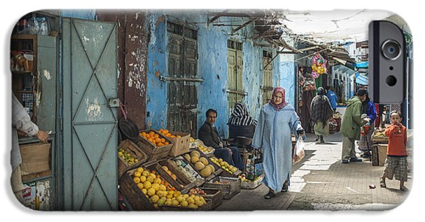 Rabat Photographs iPhone Cases - In the souk iPhone Case by Patricia Hofmeester