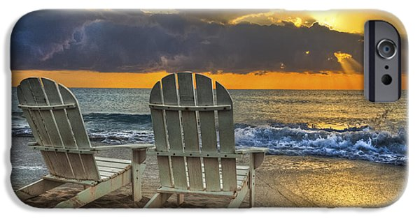 Ocean Sunset iPhone Cases - In The Spotlight iPhone Case by Debra and Dave Vanderlaan