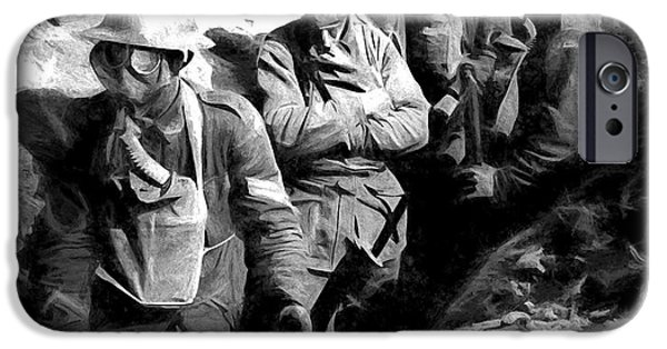 Wwi iPhone Cases - In The Trenches iPhone Case by Pennie  McCracken