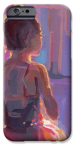 Tutus Paintings iPhone Cases - In the Wings iPhone Case by Kimberly Santini