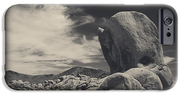 Monotone Photographs iPhone Cases - In This Strange Land iPhone Case by Laurie Search