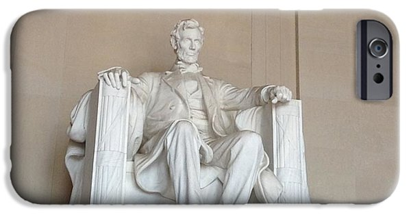 Lincoln iPhone Cases - In This Temple iPhone Case by Nancy Zilversmit