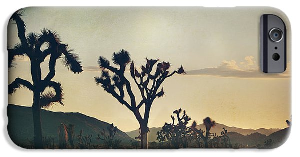 Desert Digital Art iPhone Cases - In Your Arms as the Sun Goes Down iPhone Case by Laurie Search