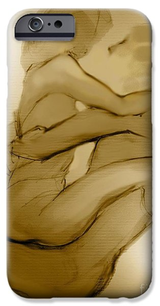 In Your Arms In Your Heart iPhone Case by Carolyn Weltman
