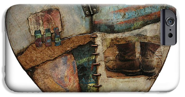 Patriotism Mixed Media iPhone Cases - In Your Boots  iPhone Case by Laura  Lein-Svencner