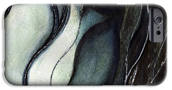 Macro Paintings iPhone Cases - In your eyes iPhone Case by Janine Riley