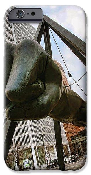 In Your Face -  Joe Louis Fist Statue - Detroit Michigan iPhone Case by Gordon Dean II