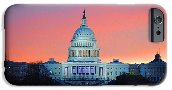 Vice President Biden iPhone Cases - Inauguration Sunrise as Painting iPhone Case by Jost Houk
