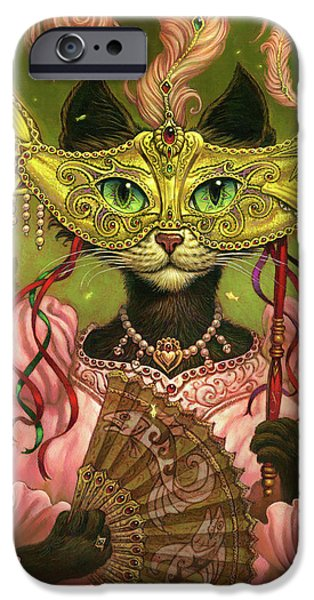 Cat Prints iPhone Cases - Incatneato iPhone Case by Jeff Haynie