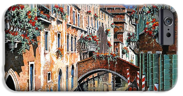 Dark Sky iPhone Cases - Inchiostro Su Venezia iPhone Case by Guido Borelli