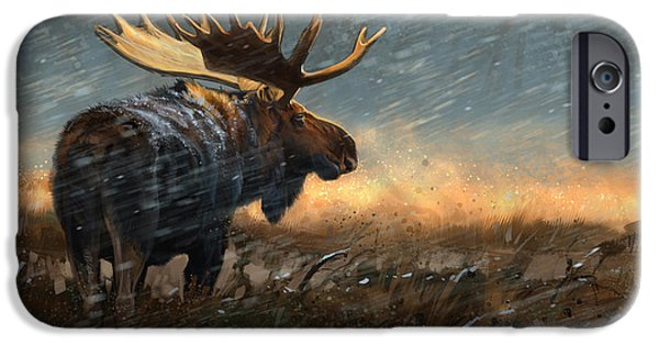 Snow iPhone Cases - Incoming iPhone Case by Aaron Blaise
