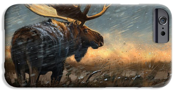 Wildlife Digital iPhone Cases - Incoming Storm iPhone Case by Aaron Blaise