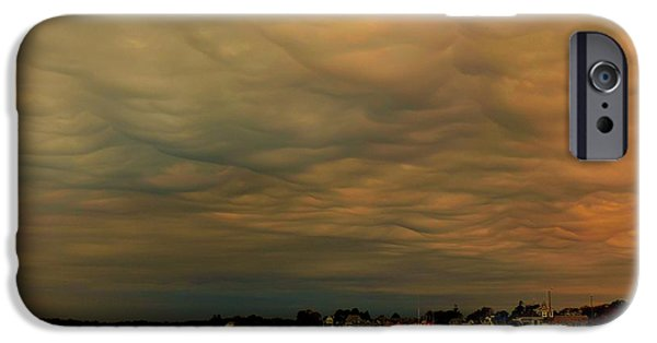 Storm Clouds Cape Cod Photographs iPhone Cases - Incoming Storm iPhone Case by Heather Mattos