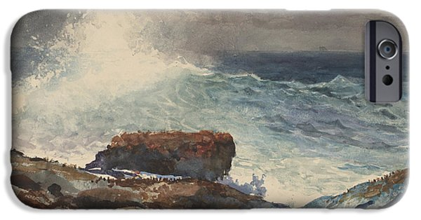Maine Landscapes Paintings iPhone Cases - Incoming Tide iPhone Case by Winslow Homer