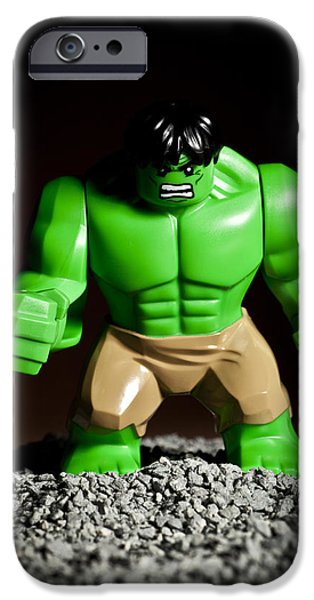 Strength Photographs iPhone Cases - Incredible Hulk iPhone Case by Samuel Whitton