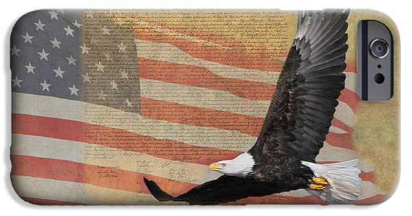 4th July Photographs iPhone Cases - Independence iPhone Case by Angie Vogel