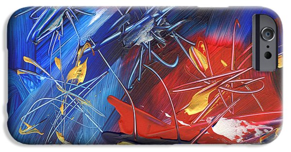 4th July Paintings iPhone Cases - Independence Day iPhone Case by Amy Yosmali