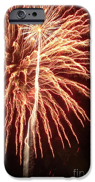 Constitution Party iPhone Cases - Independence Day Sparklers 2 iPhone Case by Deborah Smolinske