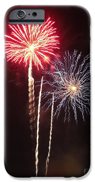 Constitution Party iPhone Cases - Independence Day Sparklers iPhone Case by Deborah Smolinske