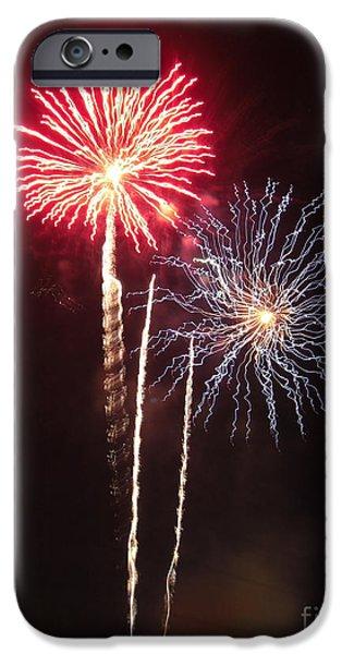 Independence Day Sparklers iPhone Case by Deborah Smolinske