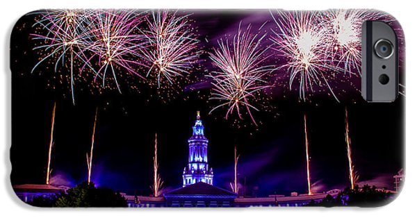 4th July Photographs iPhone Cases - Independence Eve in Denver Colorado iPhone Case by Teri Virbickis