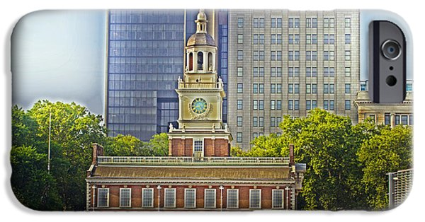 American Revolution iPhone Cases - Independence Hall iPhone Case by Tom Gari Gallery-Three-Photography