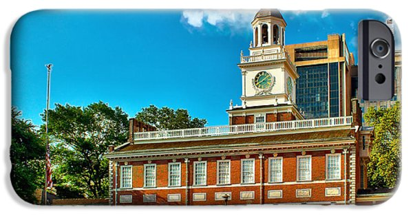 Independence Photographs iPhone Cases - Independence Hall iPhone Case by Nick Zelinsky