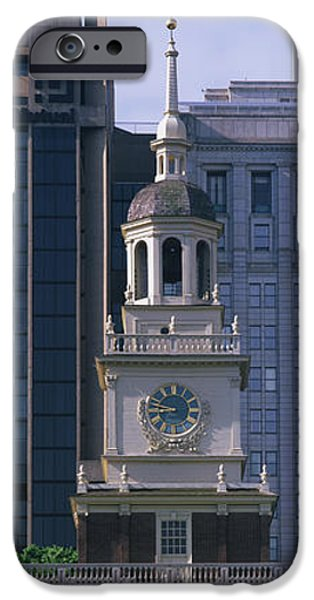 Constitution iPhone Cases - Independence Hall Pa iPhone Case by Panoramic Images