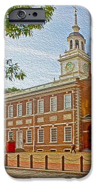 American Independance iPhone Cases - Independence Hall Philadelphia  iPhone Case by Tom Gari Gallery-Three-Photography