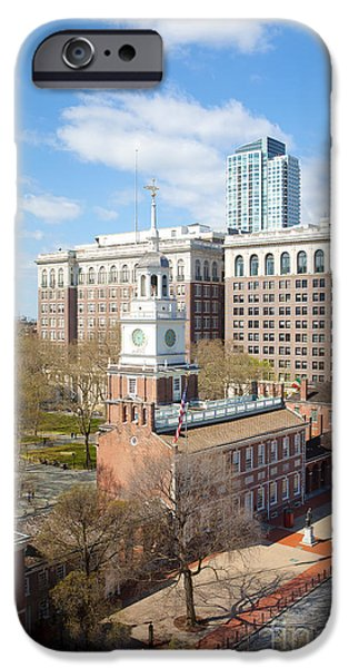 Kaypickens.com iPhone Cases - Independence Hall Philadelphia iPhone Case by Kay Pickens