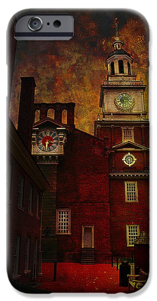 Constitution iPhone Cases - Independence Hall Philadelphia let freedom ring iPhone Case by Jeff Burgess