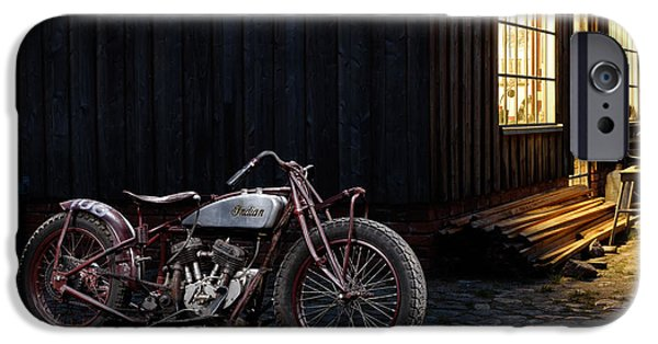 Recently Sold -  - Shed iPhone Cases - Indian 101 Scout Bobber iPhone Case by Frank Kletschkus