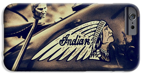 Jockeys iPhone Cases - Indian 741B Scout Motorcycle  iPhone Case by Tim Gainey