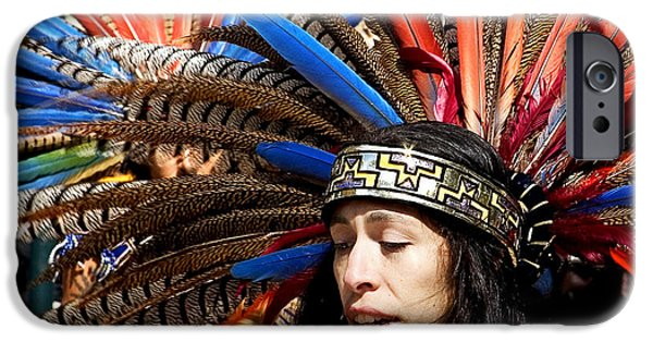 Native American Spirit Portrait iPhone Cases - Indian iPhone Case by Admir Gorcevic