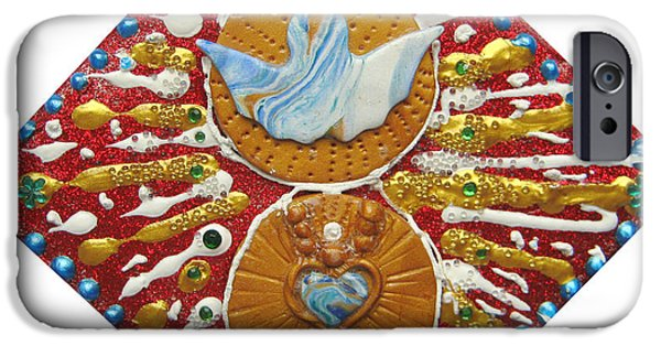 Magical Reliefs iPhone Cases - Indian Angelheart iPhone Case by Heidi Sieber
