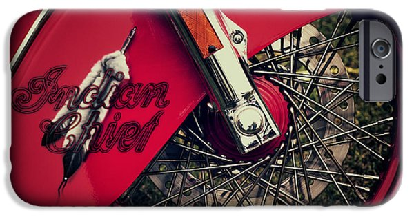 Airbrush iPhone Cases - Indian Chief Spoked Wheel iPhone Case by Tim Gainey