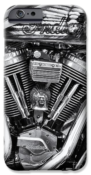 Airbrush Photographs iPhone Cases - Indian Chief  iPhone Case by Tim Gainey