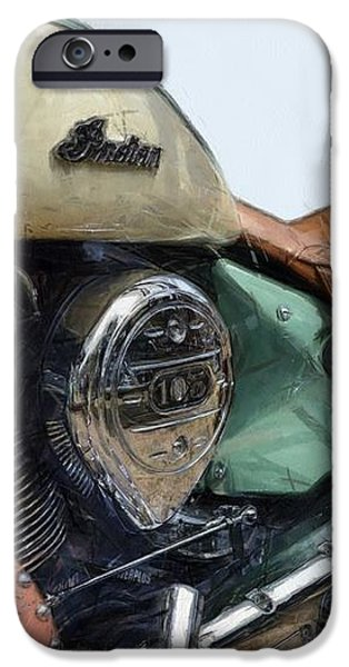 Indian Chief Vintage l iPhone Case by Michelle Calkins