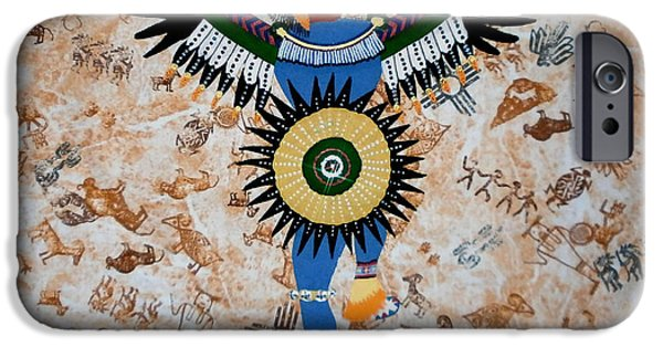 African-americans Tapestries - Textiles iPhone Cases - Indian Dance iPhone Case by Linda Egland