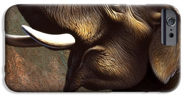 Elephants iPhone Cases - Indian Elephant 2 iPhone Case by Jerry LoFaro