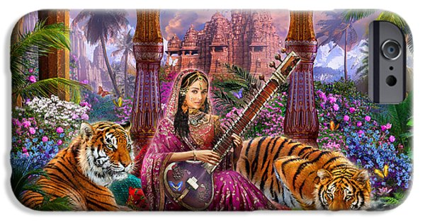 Adult iPhone Cases - Indian Harmony iPhone Case by Jan Patrik Krasny