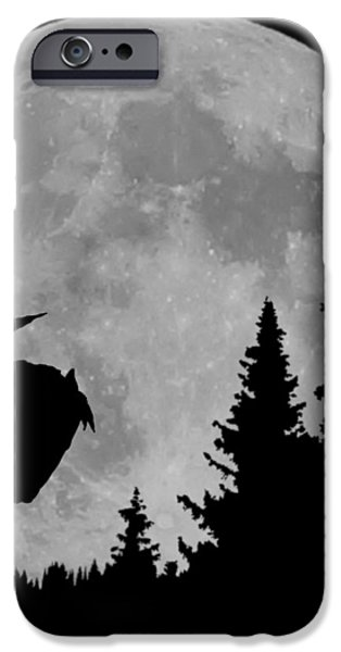 Speer iPhone Cases - Indian Moon iPhone Case by Ernie Echols