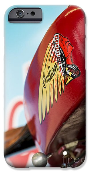 Culture iPhone Cases - Indian Motorcycle Abstract iPhone Case by Tim Gainey