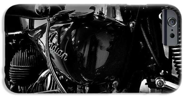 Monotone iPhone Cases - Indian Motorcycle II iPhone Case by David Patterson