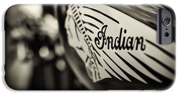 Monochrome iPhone Cases - Indian Motorcycle Sepia iPhone Case by Tim Gainey