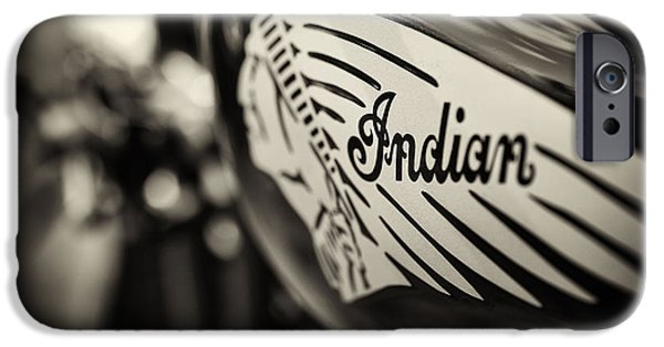Selective Focus iPhone Cases - Indian Motorcycle Sepia iPhone Case by Tim Gainey