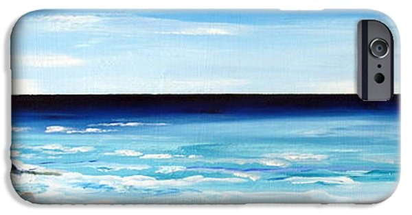 Roberto Paintings iPhone Cases - Indian ocean downsouth Western Australia iPhone Case by Roberto Gagliardi
