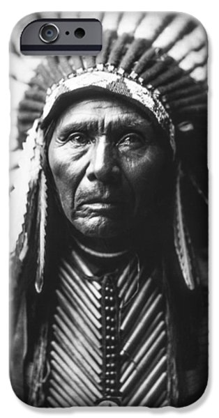 Portrait Of Old Man iPhone Cases - Indian of North America circa 1905 iPhone Case by Aged Pixel
